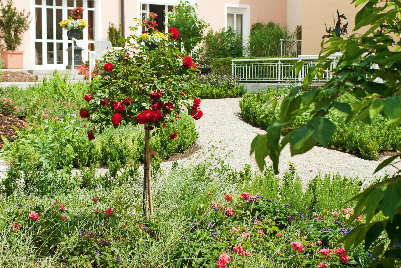 Vielfältige Bepflanzungen